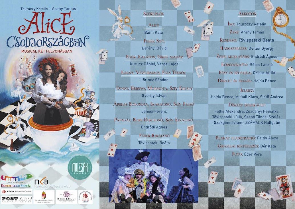 Alice Csodaországban színházi előadás leporelló - Múzsák Társulat