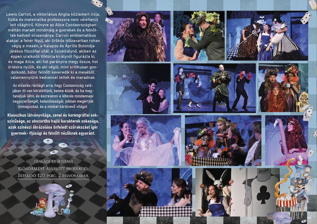 Alice Csodaországban színházi előadás leporelló-2 - Múzsák Társulat