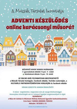 Adventi készülődés online előadás gyerekeknek és felnőtteknek a Múzsák társulat előadásában