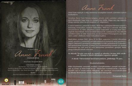 Anne Frank monodráma - Múzsák Társulat